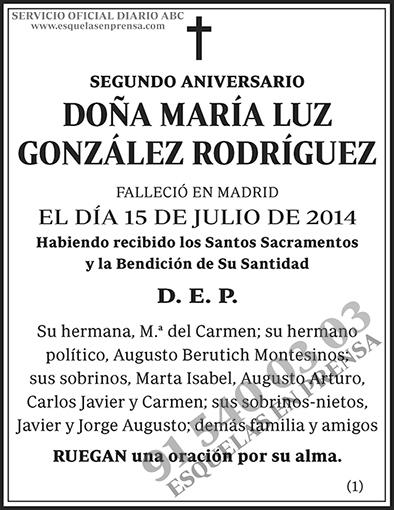 María Luz González Rodríguez